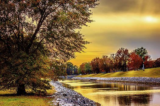 Spillway Canal - Scenic Landscape by Barry Jones