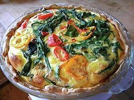 Spinach and Pepper Quiche by Sian Lindemann