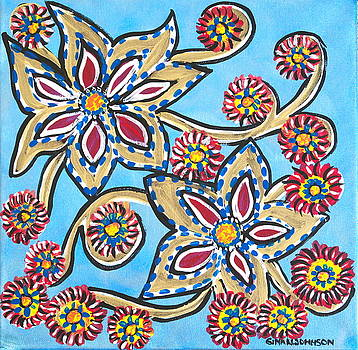 Spinning flowers by Gina Nicolae Johnson