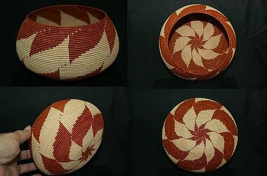 Spinning Star Coil Bowl Basket by Darlene Ryer