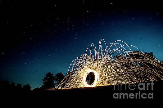Spinning Wool by Brian Jones