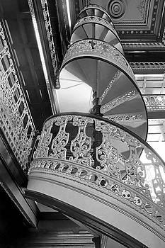 Spiraling Up - State Library - Iowa - BW by Nikolyn McDonald