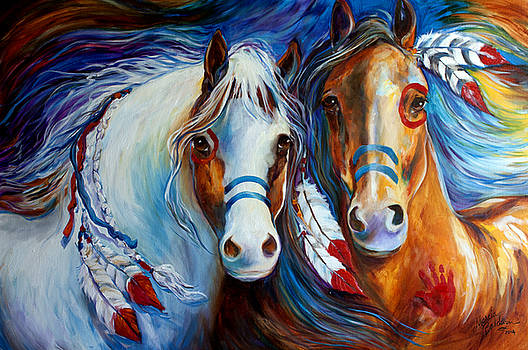 Spirit Indian War Horses Commission by Marcia Baldwin