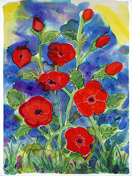 Spirited Poppies by Jill Targer