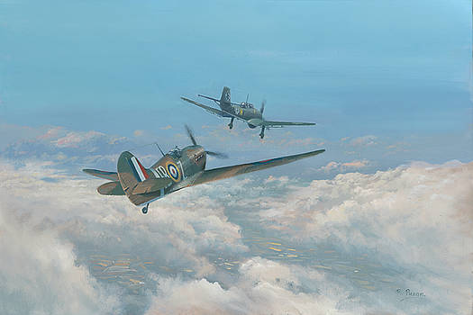 Spitfire and Stuka by Richard Picton