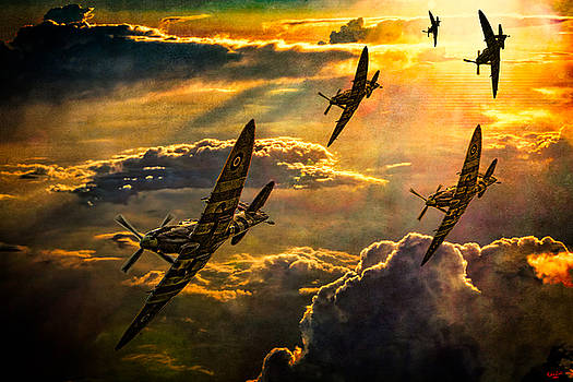 Spitfire Attack by Chris Lord