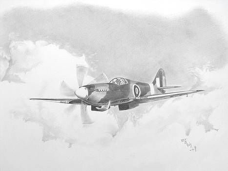 Spitfire MK 21 by Ed Teasdale