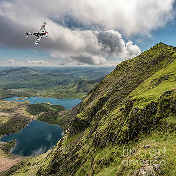 Spitfire over Snowdon by Adrian Evans