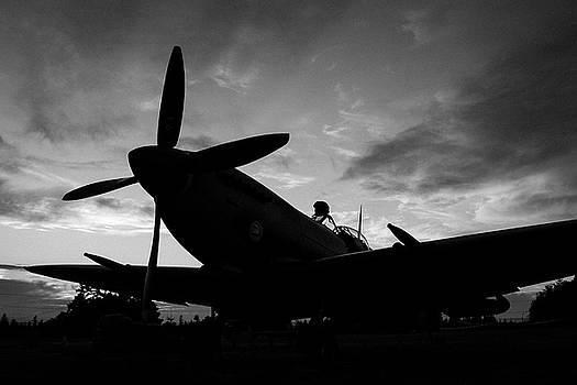 Spitfire Silhouette by John Clark