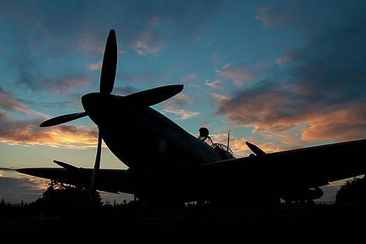 Spitfire Sunset by John Clark