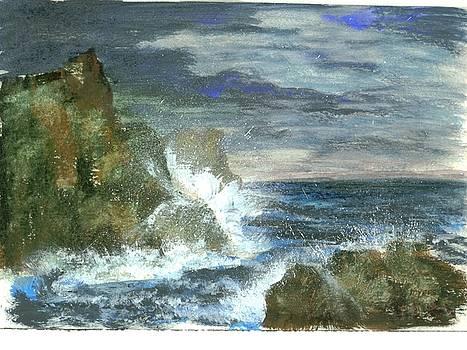 Splashes of Ocean Waves by Rhonda Myers