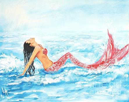 Splashing Mermaid by Leslie Allen