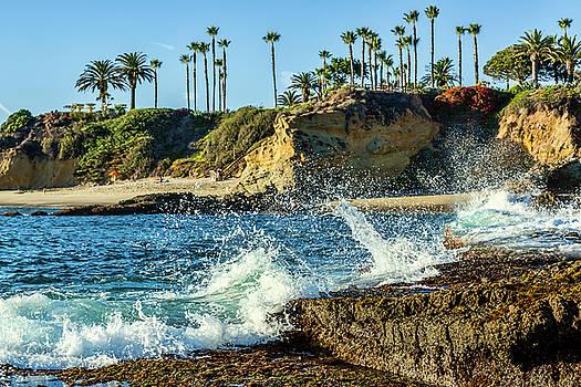 Splashing Waves and Nice Beach by Kelley King