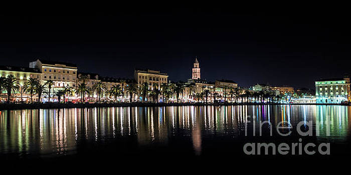 Split Riva at Night by David Daniel