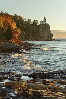 Split Rock Lighthouse at Sunrose by Tod Colbert