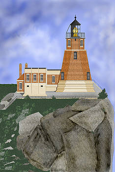 Split Rock Lighthouse on the Great Lakes by Anne Norskog