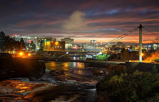Spokane River Glow by James Richman