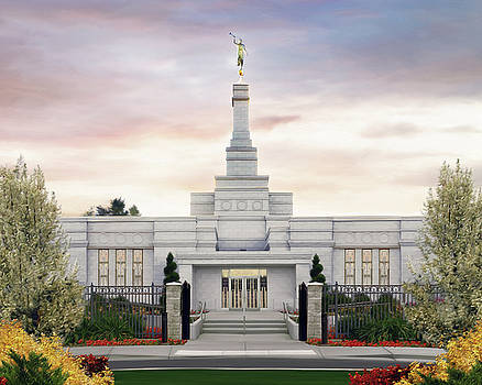 Spokane Washington Temple by Brent Borup