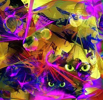 Spooky Cat's Eyes by Grace Iradian