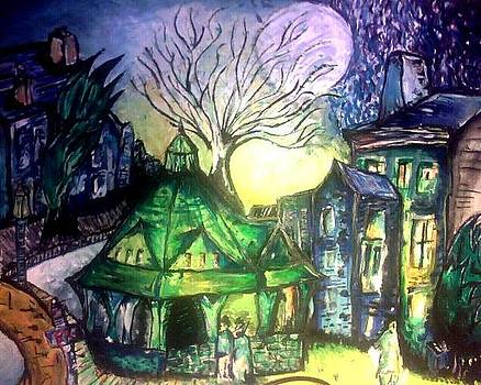 Spooky Village by Angela Moore