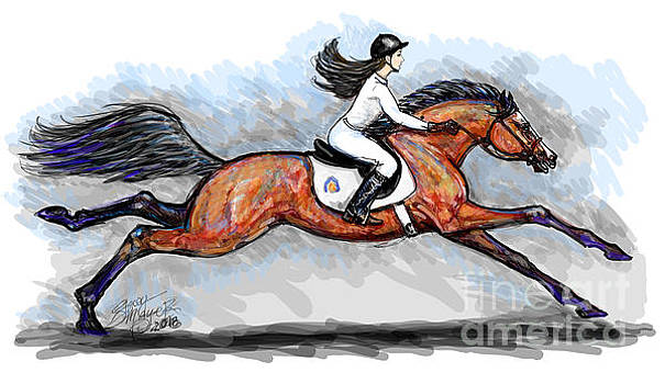 Sport Horse Rider by Stacey Mayer