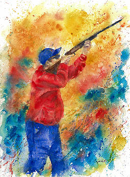 Sporting Clays Skeet Shooter by Barb Capeletti