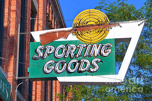 Sporting Goods Sign by Catherine Sherman