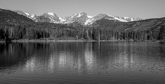 Sprague Lake In Black And White by Michael Putthoff