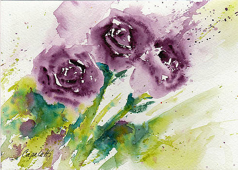 Spray of Purple Roses by Barb Capeletti