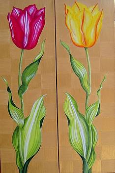Spring Beauties Tulips together by Carol Sabo