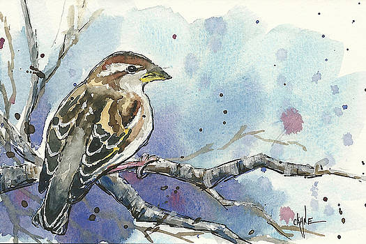 Spring Bliss Sparrow by Christine Camp