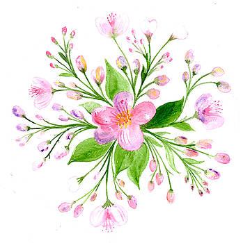 Spring Blossom Botanical Mandala by Louise Gale