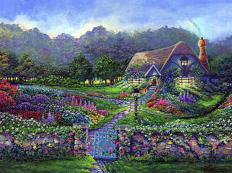 Spring Cottage by Bonnie Cook