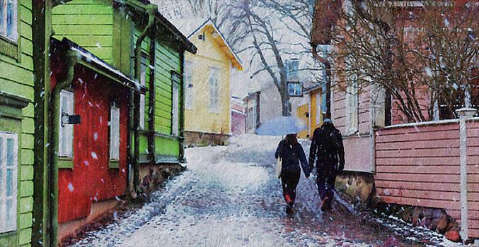Spring Day in Old Porvoo by Pekka Liukkonen