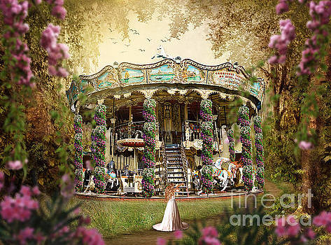 Spring Flower Carousel in Paris by Tricia CastlesNcrowns