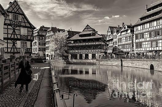 Spring in Petite France, Strasbourg bw by Sinisa CIGLENECKI