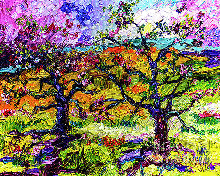 Spring in Provence Pink Blossom Trees by Ginette Callaway