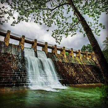 Spring Lake Dam In The Ozark National by David Dedman