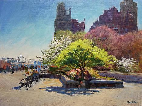 Spring Morning on John Finley Walk by Peter Salwen
