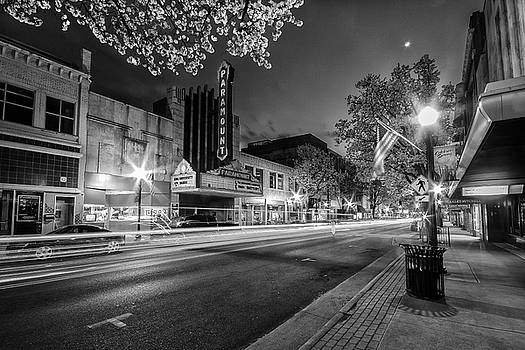 Spring Night on State Street in Black and White by Greg Booher
