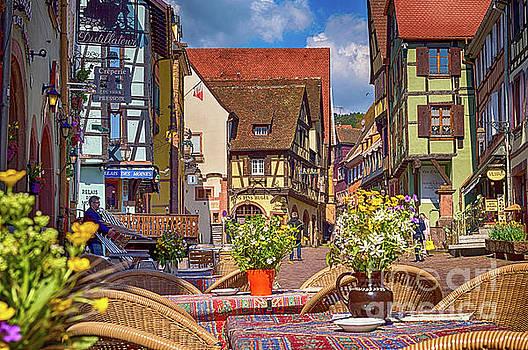 Spring on the street, Riquewihr, France, HDR by Sinisa CIGLENECKI