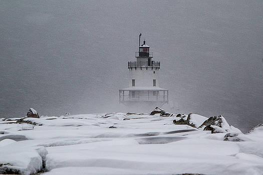 Spring Point Ledge Lighthouse Blizzard by Darryl Hendricks