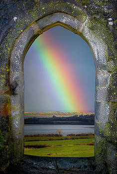 Spring Rainbow over Ireland's Shannon Estuary by James Truett