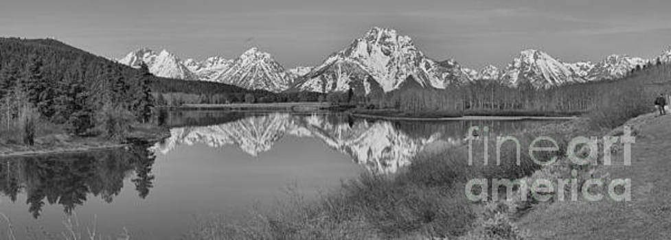 Adam Jewell - Spring Reflections At Oxbow Bend Black And White