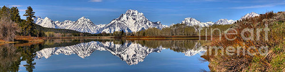 Adam Jewell - Spring Reflections At Oxbow Bend Panorama