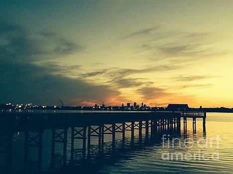 Spring Sunset over St Johns River by Mitzisan Art LLC