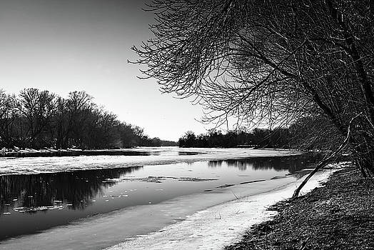 Spring Thaw on the River by Kevin Heussner