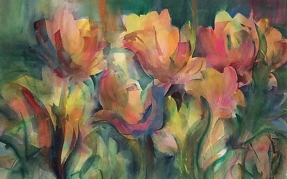 Spring Tulips by Karen Ann Patton