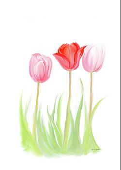 Spring Tulips V by Ramona Murdock