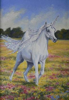 Spring Unicorn by Louise Green